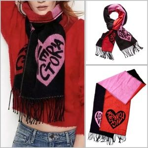 VS Winter Angel Love & Red Reversible Scarf